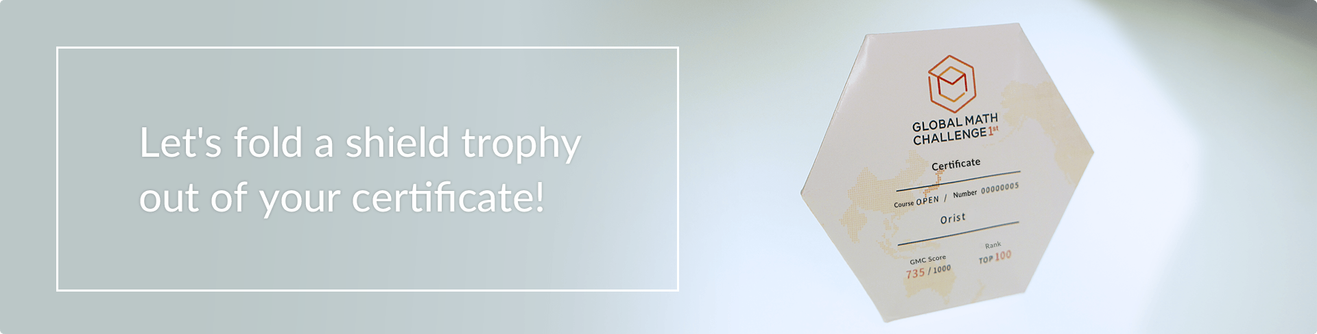 Lets fold a shield trophy out of your certificate!